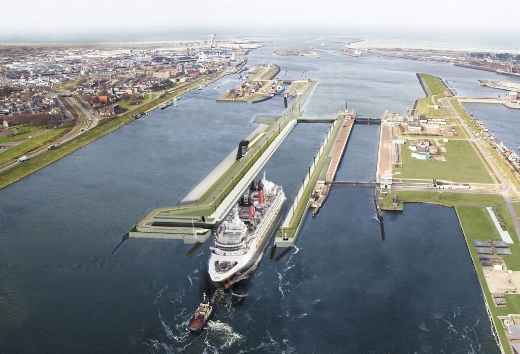 Nieuwe zeesluis IJmuiden